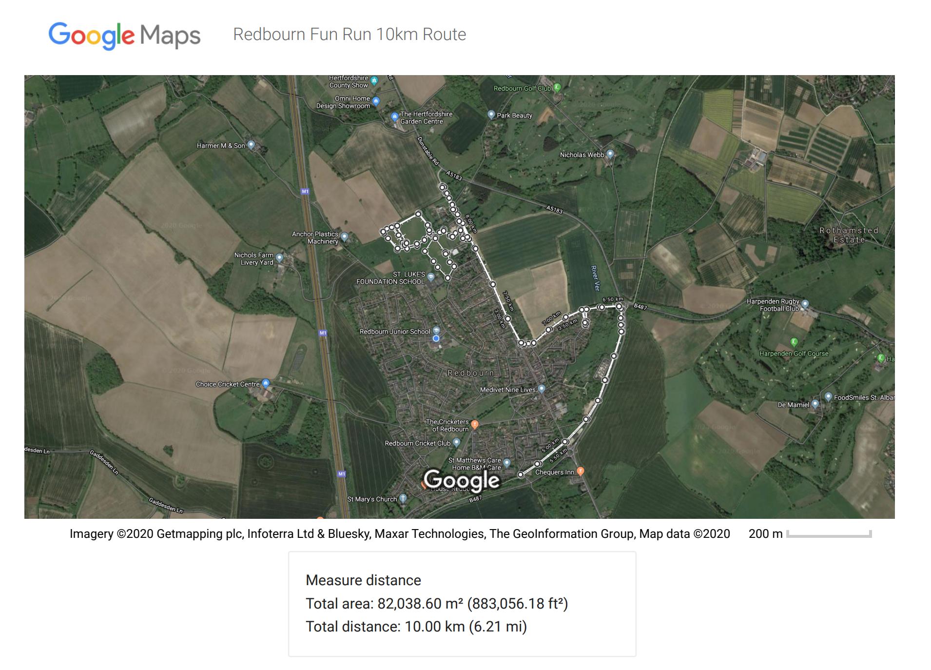 redbourn fun run 10km route